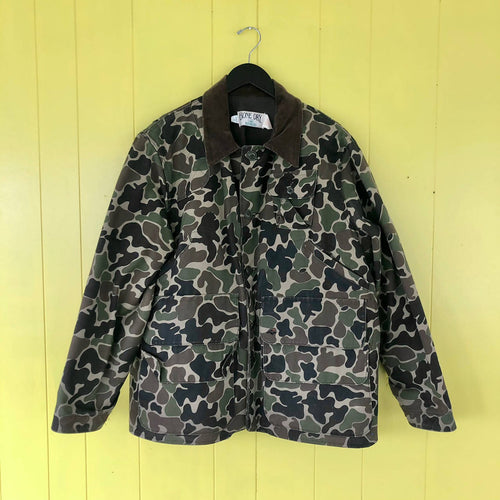 Vintage Red Head Bone Dry made in USA duck camo hunting jacket size XL