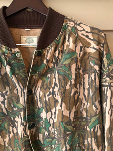 Mossy Oak Green Leaf Bomber Jacket (M/L)