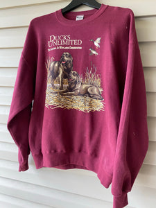 Ducks Unlimited Chocolate Lab Duo Sweatshirt (L)