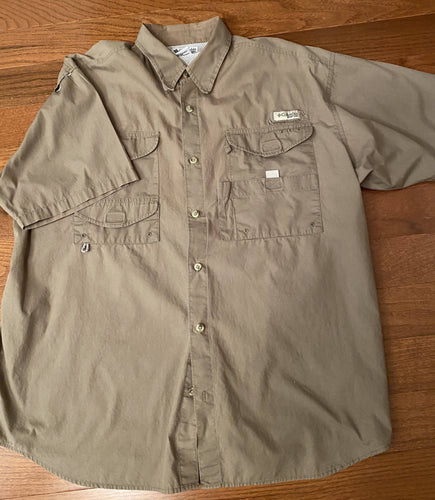 Columbia Short Sleeve Fishing Shirt Sz L