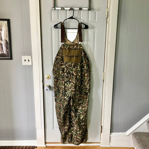 Vintage duck camo made in USA hunting overalls size XXL
