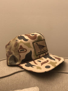 Old School Camo Hat with Turkey Patch