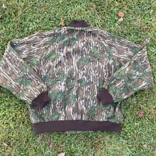 Load image into Gallery viewer, Vintage Mossy Oak Green Leaf Made In USA Bomber Jacket (L)
