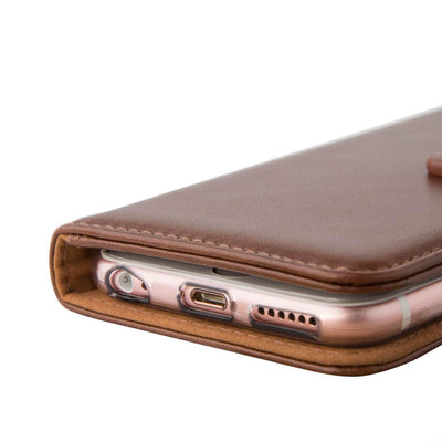 High quality stitching and workmanship Evo iPhone 7 & 8 leather wallet case from time2talk Swansea