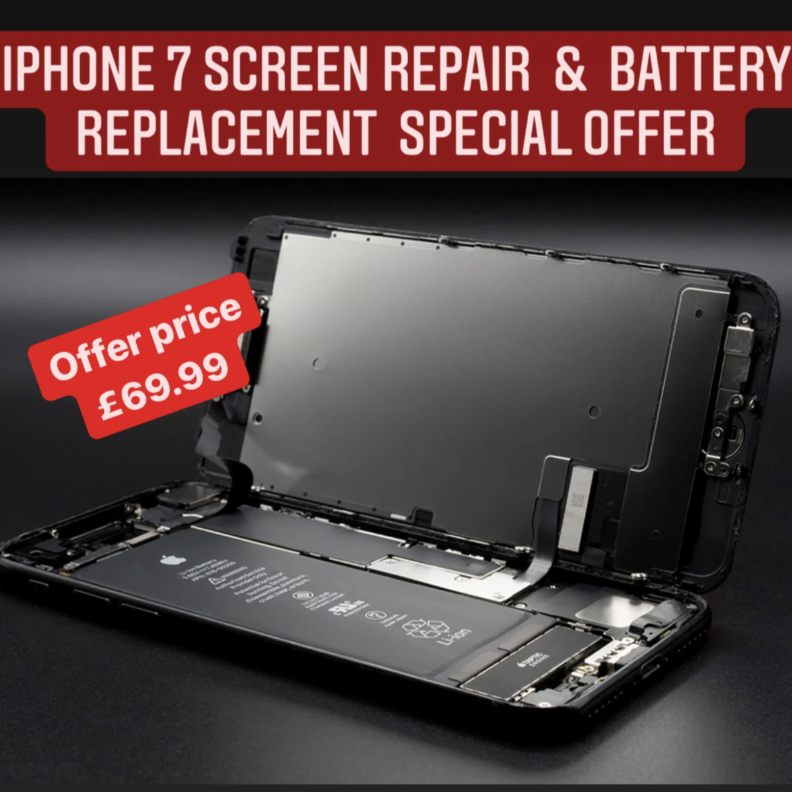 apple iPhone 7 LCD Screen & Battery Replacement Offer