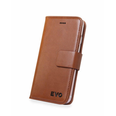 PREMIUM APPLE IPHONE 6, 6S & PLUS PU LEATHER WALLET CASE BY EVO