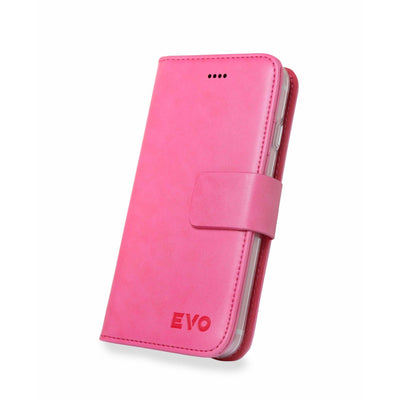 Pink Evo iPhone 7 & 8 leather wallet case from time2talk Swansea