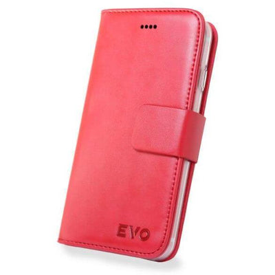 Red Evo iPhone 7 & 8 leather wallet case from time2talk Swansea