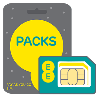 EE pay as you go sim cards at time2talk Swansea, free sim cards when you top up