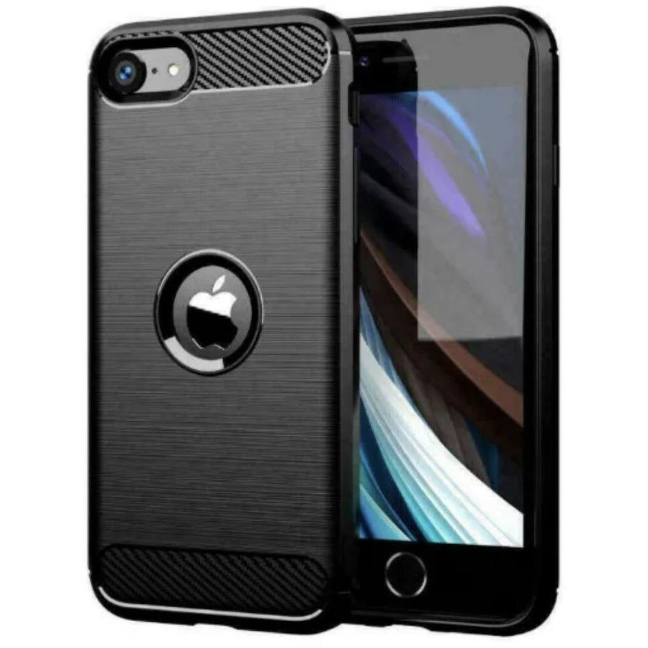 iPhone Carbon Fibre Silicon Rugged Case - Time 2 Talk Swansea