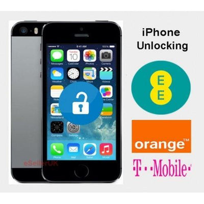 iPhone 5 / 5c / 5s / 6 / 7/ 8/ X - EE UK Network Unlocking