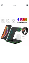 15w Fast Wireless Charger 3 in 1 Stand for apple