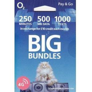 O2 pay as you go - Trio sim card pack