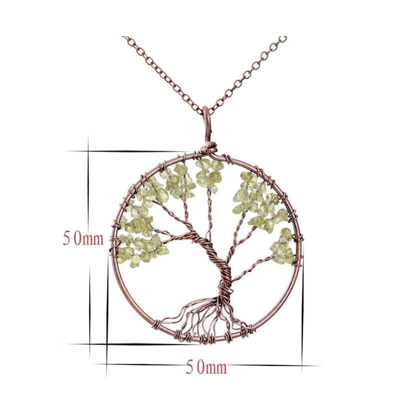 Healing Chakra Tree Of Life Necklace