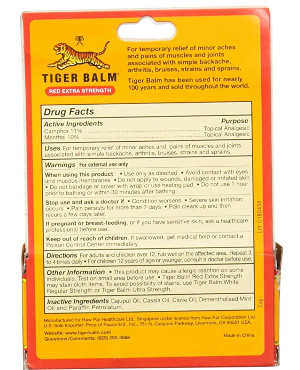 100% Original Tiger Balm Ointment
