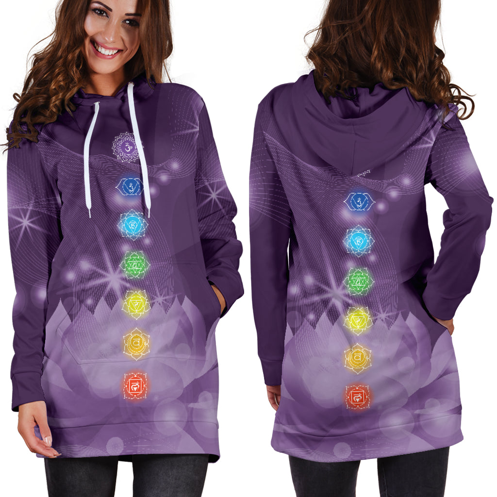 7-Chakra Lotus Hoodie Dress