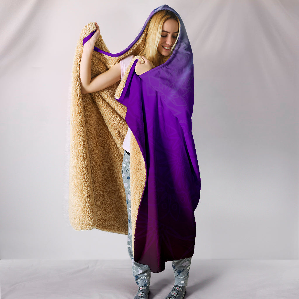 Royal Purple Chakra Hooded Blanket