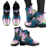 Leather Boots - Lotus Chakra Mandala Women's Leather Boots