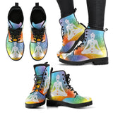 Leather Boots - Mandala Chakra Design Women's Leather Boots
