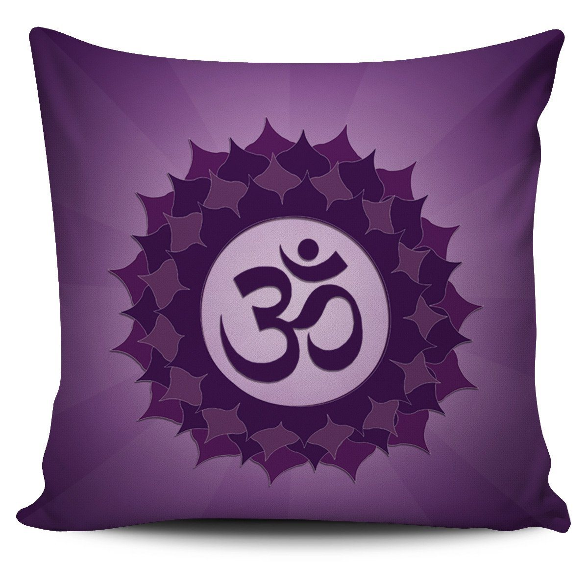 "Pillow - Purple ""Crown"" Chakra Pillowcase Set(1 Of 7)!"