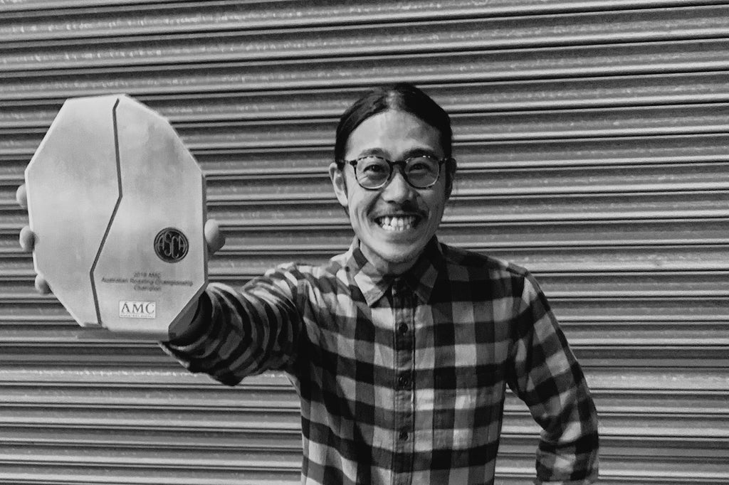Takumi of Brut coffee winning at Australian Coffee Roasting Championship 2019 in Melbourne