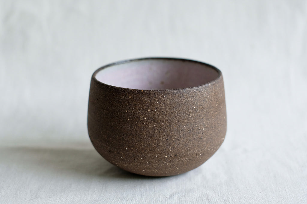 Clayboy Stoneware Filter cup Sakura Pink/Dark Brown