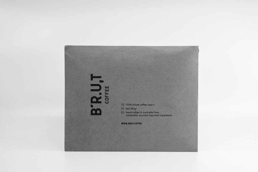 BRUT coffee package