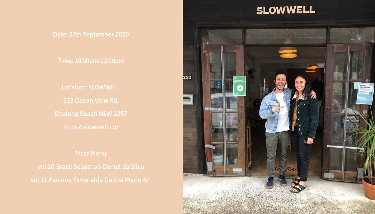 SLOWWELL x BRUT Coffee popup event