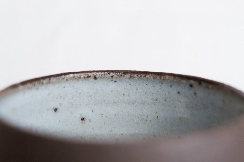 Close Up Dark Skyblue Filter Cup by Clayboy Stoneware