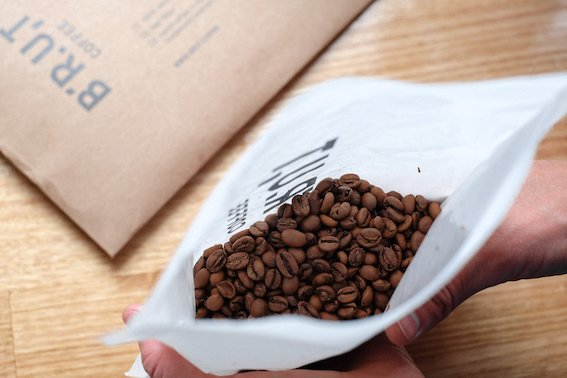 BRUT Coffee Packaging Beans
