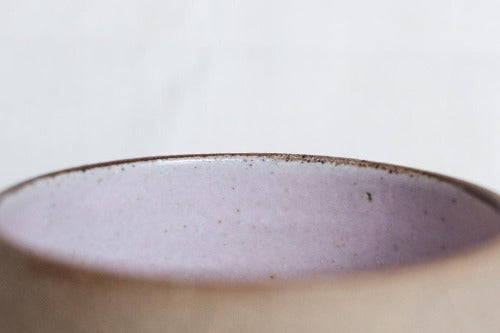 Close up Sandstone Sakura Pink Filter Cup by Clayboy Stoneware