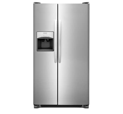 Frigidaire - 22-cu ft Side-by-Side Refrigerator with Ice Maker - EasyCare Stainless Steel