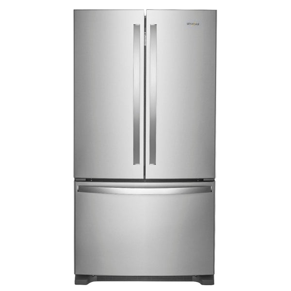 Whirlpool - 25.2 Cu. Ft. French Door Refrigerator with Internal Water Dispenser - Stainless steel - Appliances Club