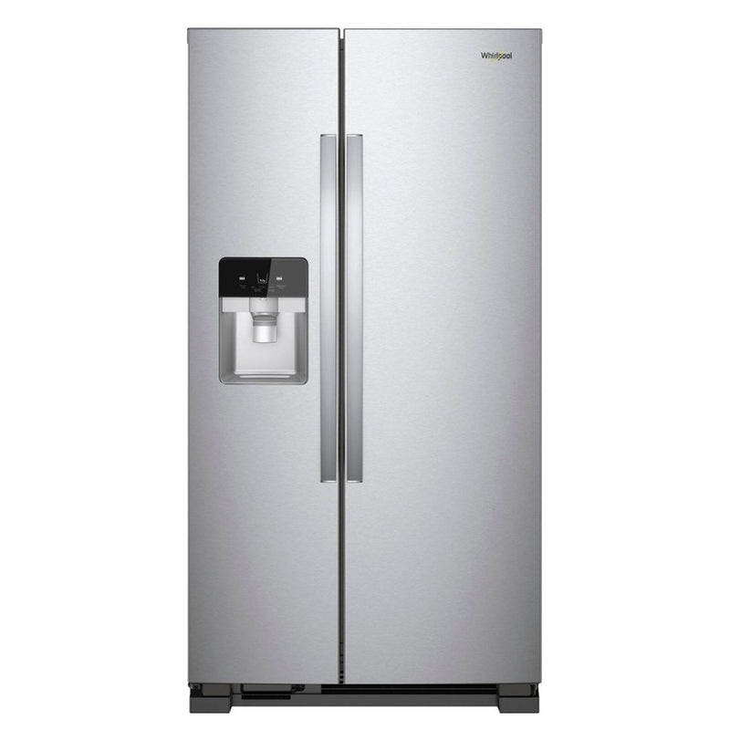Whirlpool - 21.4 Cu. Ft. Side by Side Refrigerator - Monochromatic Stainless Steel - Appliances Club