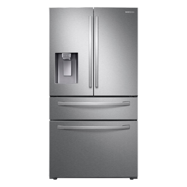 Samsung - 28 cu. ft. 4-Door French Door Refrigerator with FlexZone™ Drawer - Fingerprint Resistant Stainless Steel - Appliances Club