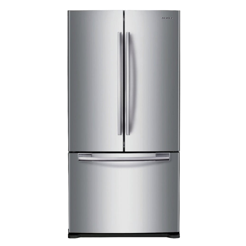 Samsung - 17.5 Cu. Ft. French Door Counter Depth Refrigerator - Stainless steel - Appliances Club