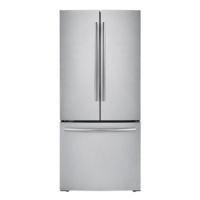 Samsung - 21.8 Cu. Ft. French Door Refrigerator - Stainless steel