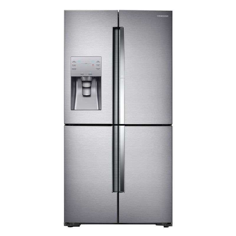 Samsung-22.1 Cu Ft 4 Door Flex French Door Counter, Depth Refrigerator,Food ShowCase-Stainless Steel
