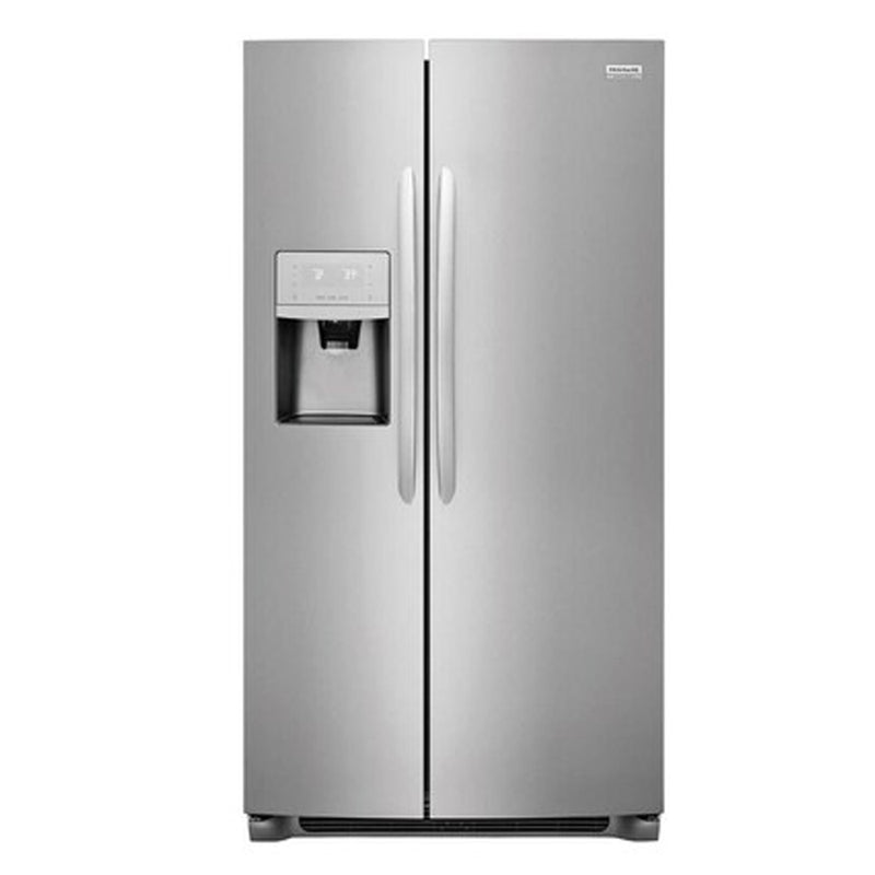 Frigidaire - Gallery 22 cu ft Counter depth Side by Side Refrigerator with Ice Maker -Stainless Steel - Appliances Club