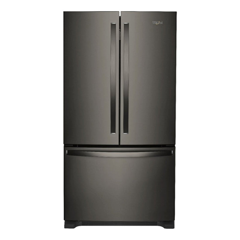 Whirlpool-25.2 Cu. Ft. French Door Refrigerator with Internal Water Dispenser-Black stainless steel