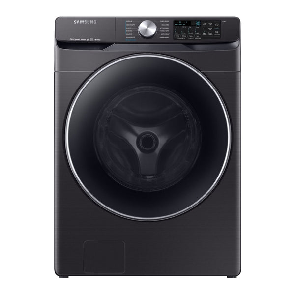 Samsung - 4.5 Cu. Ft. 12 Cycle Front Loading Smart Wi-Fi Washer with Steam - Black stainless steel