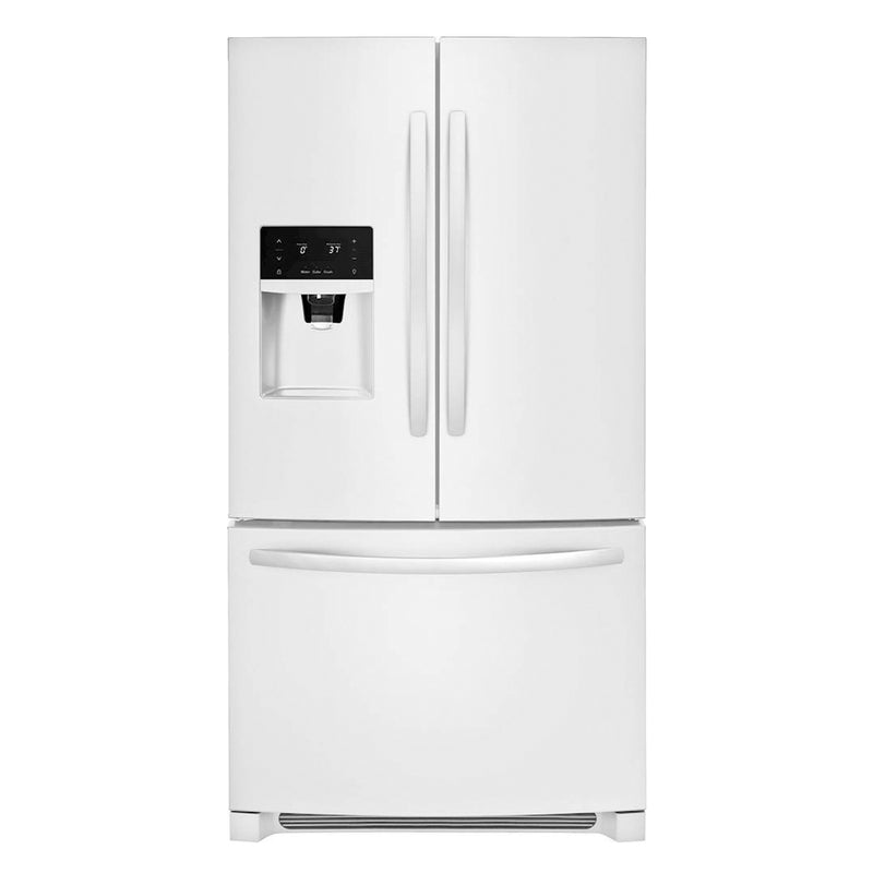 Frigidaire - 26.8 Cu. Ft. French Door Refrigerator with Water and Ice Dispenser - Pearl White - Appliances Club