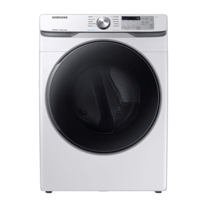 Samsung - 7.5 Cu. Ft. 10 Cycle Electric Dryer with Steam - White