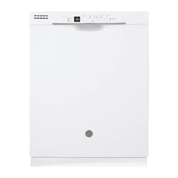 "GE - 24"" Front Control Tall Tub Built In Dishwasher - White"