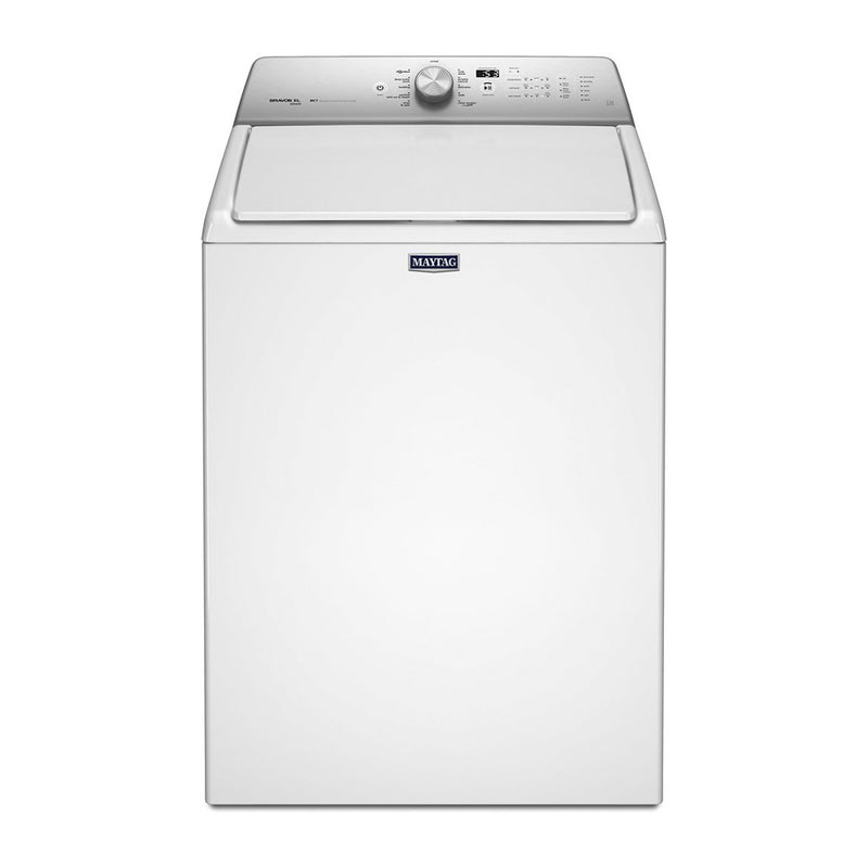 Maytag - 4.8 Cu. Ft. 11 Cycle Steam Top Loading Washer - White