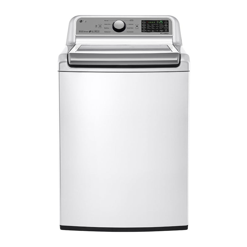 LG - 5.0 Cu. Ft. 8 Cycle Top Load Smart Wi-Fi Washer 6Motion Technology - White - Appliances Club