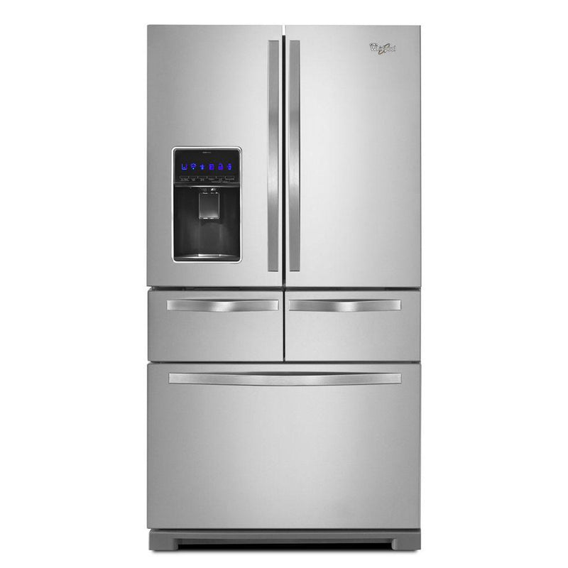 Whirlpool - 25.8 cu. ft. Double Drawer French Door Refrigerator - Monochromatic Stainless Steel - Appliances Club