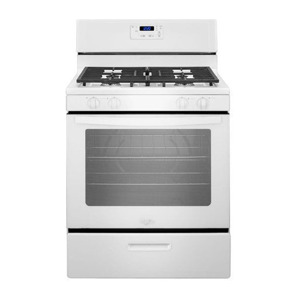 Whirlpool - 5.1 Cu. Ft. Freestanding Gas Range - White - Appliances Club