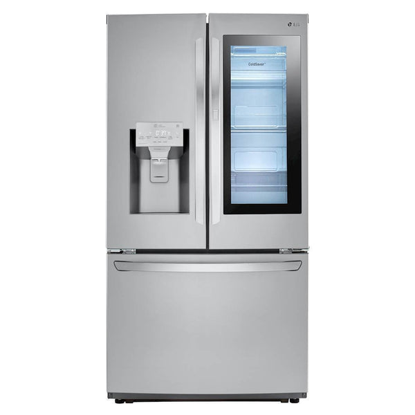 LG - 26 cu. ft. 3 Door French Door Smart Refrigerator with InstaView Door in Door - Stainless Steel - Appliances Club