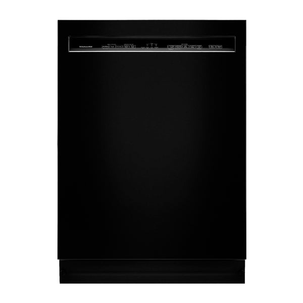 "KitchenAid - 24"" Front Control Tall Tub Built In Dishwasher with Stainless Steel Tub - Black"